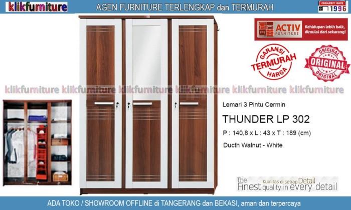harga Thunder lp 302 activ lemari pakaian 3 pintu cermin Tokopedia.com