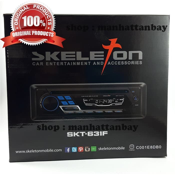 harga Head unit single din 1 din car single dvd player skeleton skt-631f Tokopedia.com