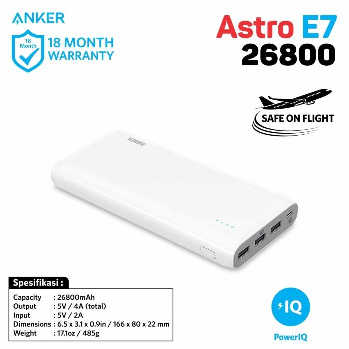 Anker e7 26800mah powerbank fast charging samsung xiaomi ipad iphone