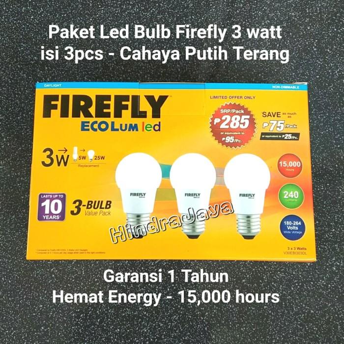 Jual Paket Hemat Lampu Led Bulb 3w Isi 3pcs Garansi 1 Tahun Kota