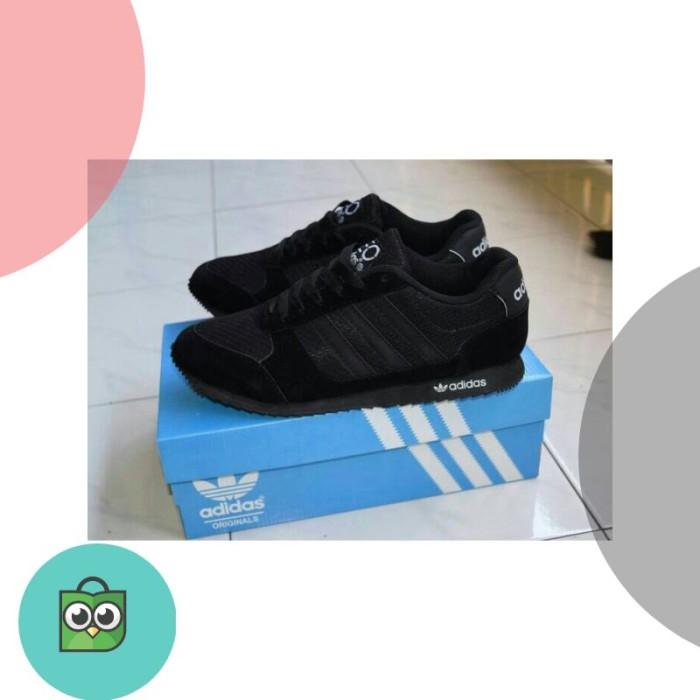 Jual Sepatu Sekolah Adidas Neo Full Black Hitam Anak Pria Wanita