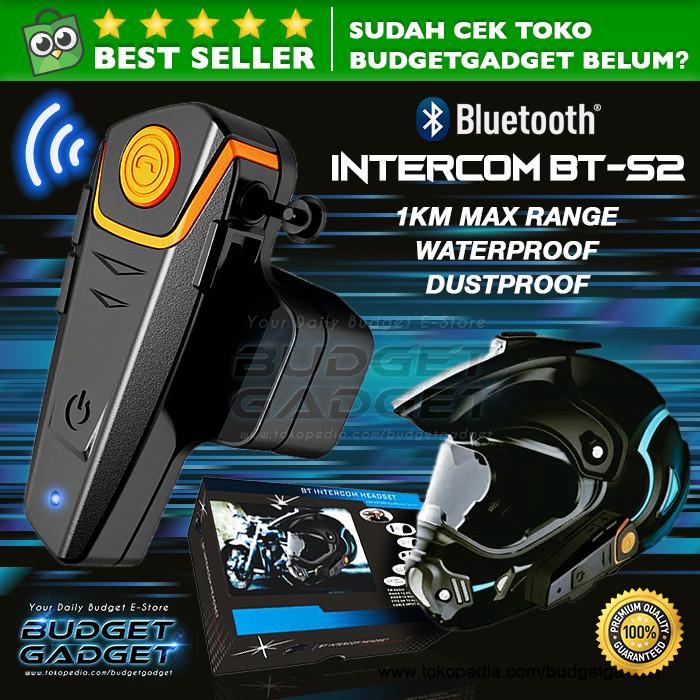 Motorcycle Helmet Bluetooth Interphone/Intercom Headset 1000m - BT-S2