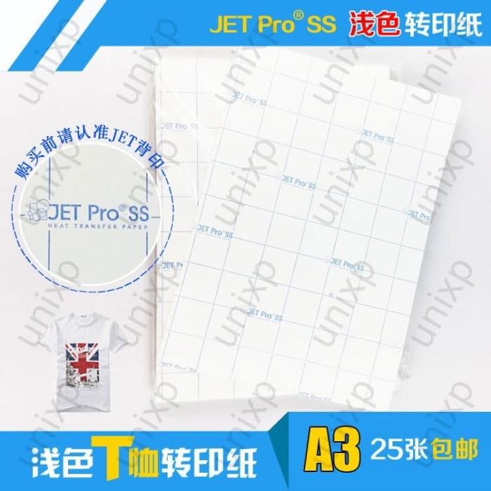 Foto Produk Transfer Paper Jet Pro Soft Stretch / JPSS USA ( Light ) - A3 dari unixp