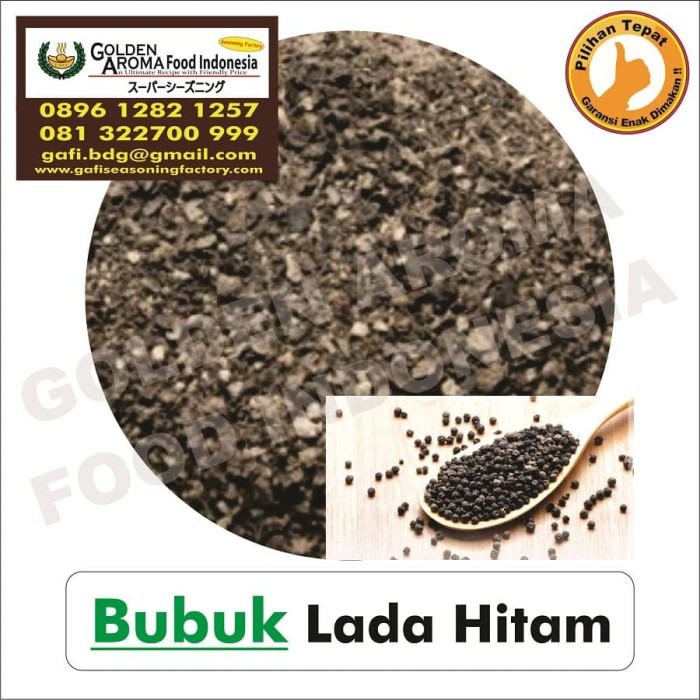 Foto Produk Bubuk Lada Hitam Asli Serbuk. 0896-1282-1257, Black Pepper Powder dari Pensil hb Asli Merk 2