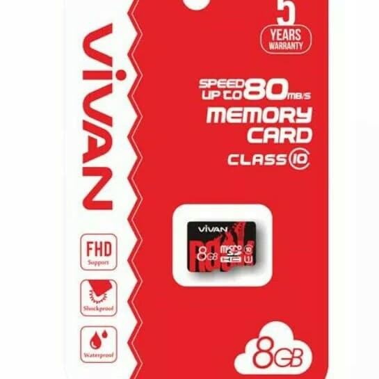 Microsd Vivan 8GB C10 NA
