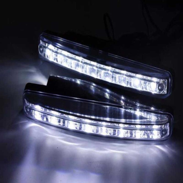 JMS - Lampu LED DRL Mobil Motor Plasma 8 LED SMD 15.5 cm
