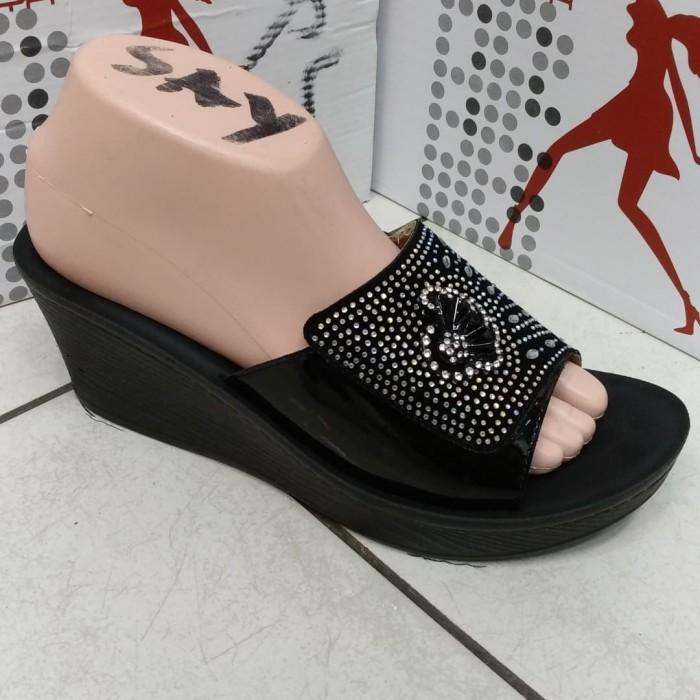 Jual Sofia sandal import wanita cewek 1288 10 sepatu wedges flat ... 049dc9ebfe
