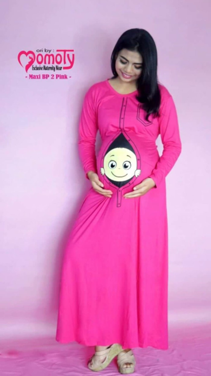 Jual TERBARU Maxi Dress Ibu Hamil Lucu Unik Berkualitas Original Momoty Jakarta Pusat Putri Aaidah