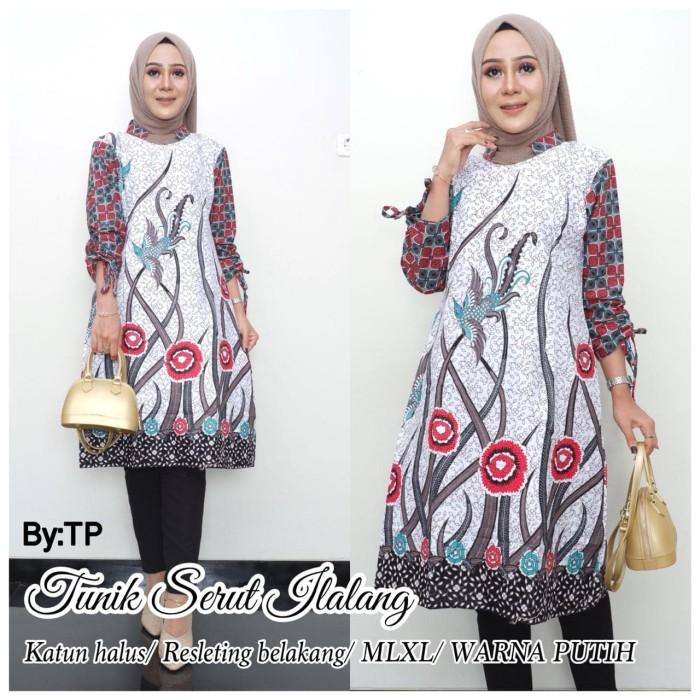 Jual Tunik Ilalang Kombinasi Baju Batik Atasan Wanita Kota Surakarta Metta Fashion Tokopedia
