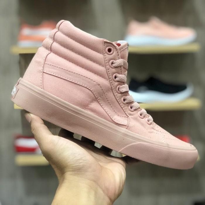Jual Sepatu Vans SK8 Hi pink peach