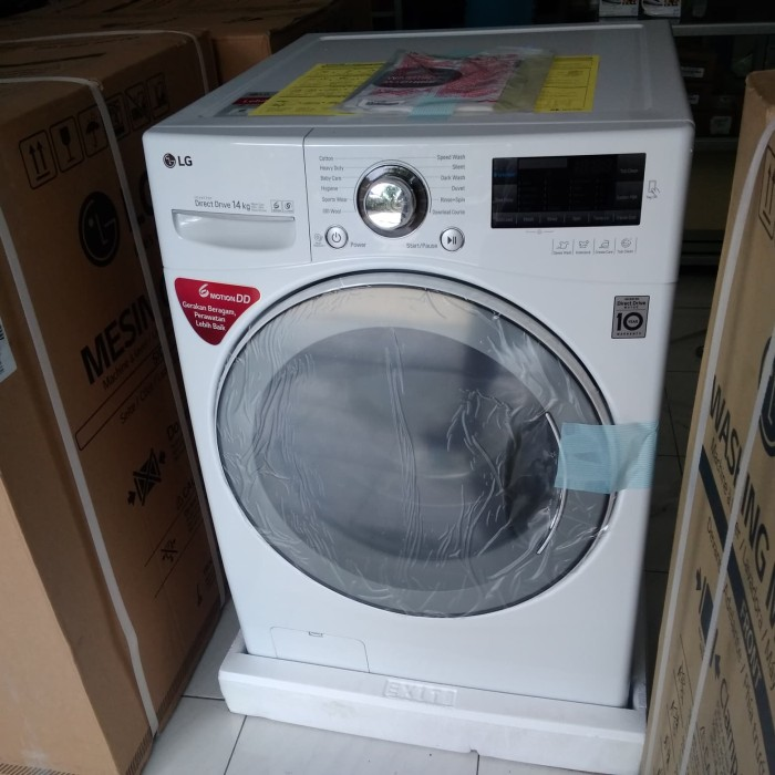 mesin cuci LG Front loading 14 kg F1014NTGW
