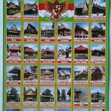 Jual Poster Rumah Adat Kab Bogor Jenggot Berkah Abadi Tokopedia