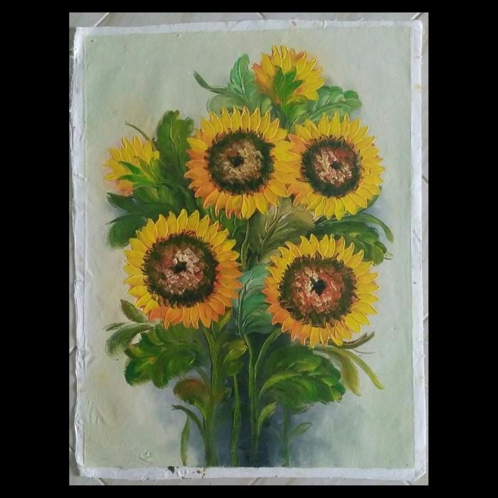 Jual Lukisan Bunga Matahari Kab Badung Gushen Tokopedia