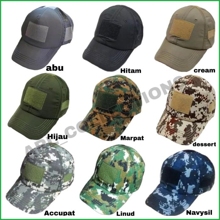 harga Topi army velcro tactical hat  topi pria bdu loreng airsofter outdoor  . 737af4e2b2