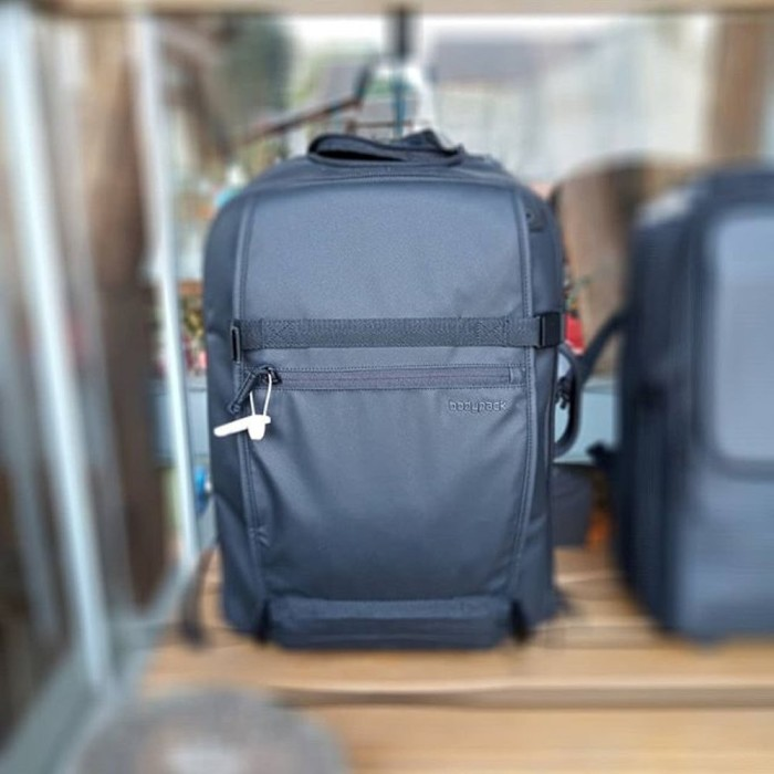Tas Koper Ransel Bodypack Commune Wheeled Bag Black Hitam 92000 1108