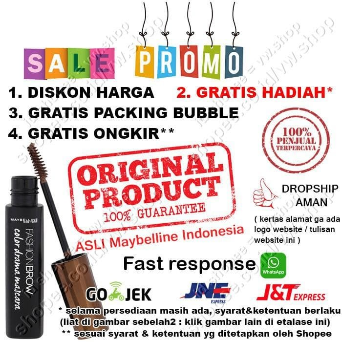 Jual Maybelline Fashion Brow Color Drama Mascara / Maskara Pensil Alis - -  Jakarta Pusat - Eflian Shop | Tokopedia