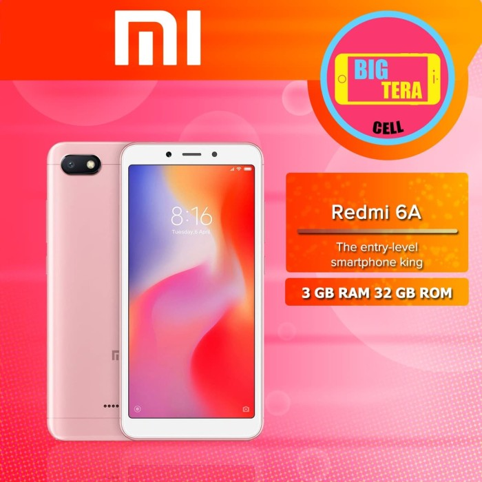 Jual Xiaomi Xiomi Redmi 6a Ram 3gb 32gb Xiomi Mi 6a Hp Xiomi