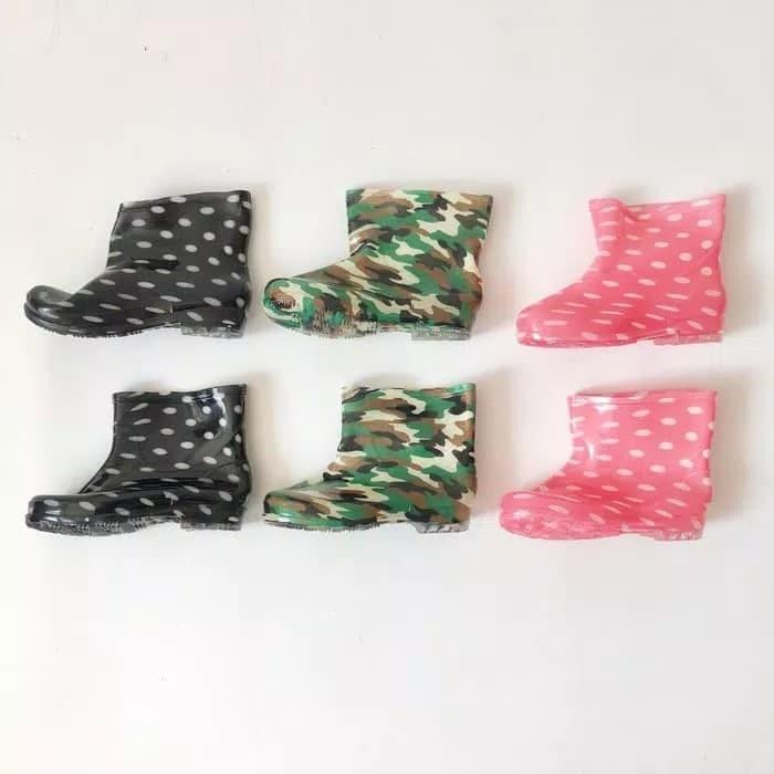 harga Sepatu boots hujan karet anak motif polkadot army loreng size 36-40 Tokopedia.com