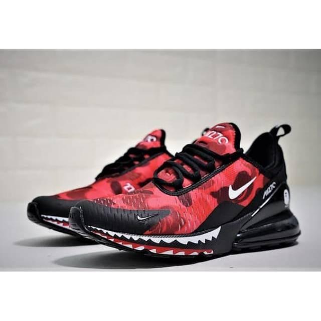 Jual sepatu sport Nike Air Max 270 Bape Red Grade Original terlaris ... 94a243f3d5