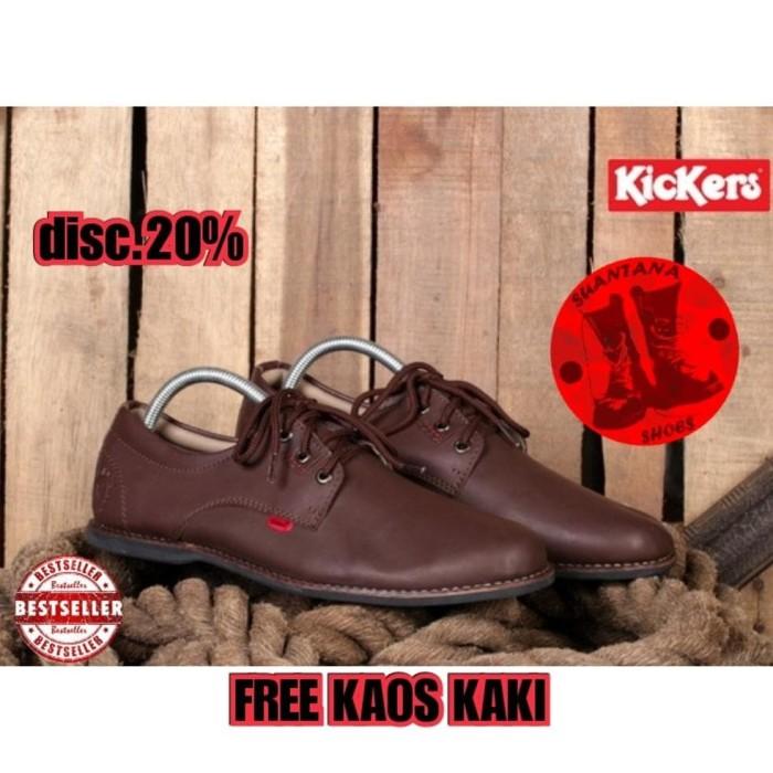 Jual Baru Sepatu Pria Kickers Ares Casual Loafers Semi Kulit Elegant ... 6074f123bf
