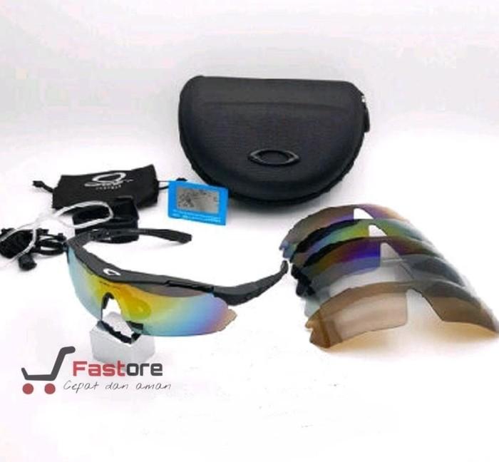 (Terlaris) Kacamata Sport Okley Quantum 5 Lensa -- Kacamata Gowes. Toko  dalam status moderasi 3b390494a4
