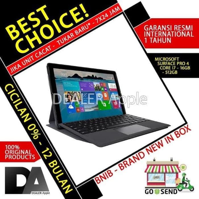Jual Microsoft Surface Pro 4 I7 16gb 512gb - Garansi Resmi Micros - Kota  Denpasar - Dufanelektronik JF   Tokopedia