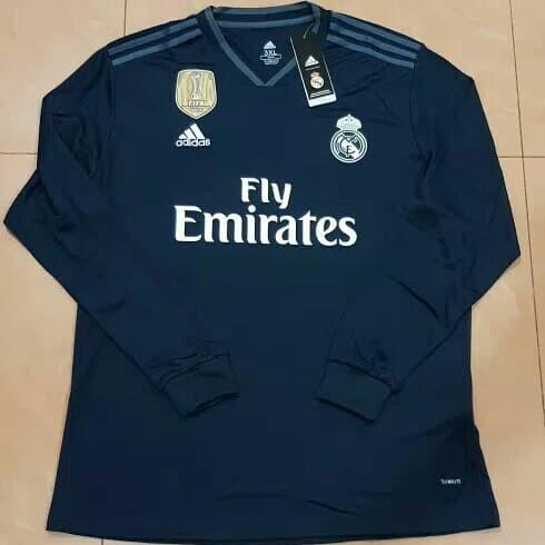 e07cf0de4 Jual Jersey Bola Lengan Panjang LS Longsleeve Real Madrid Away 2018 ...