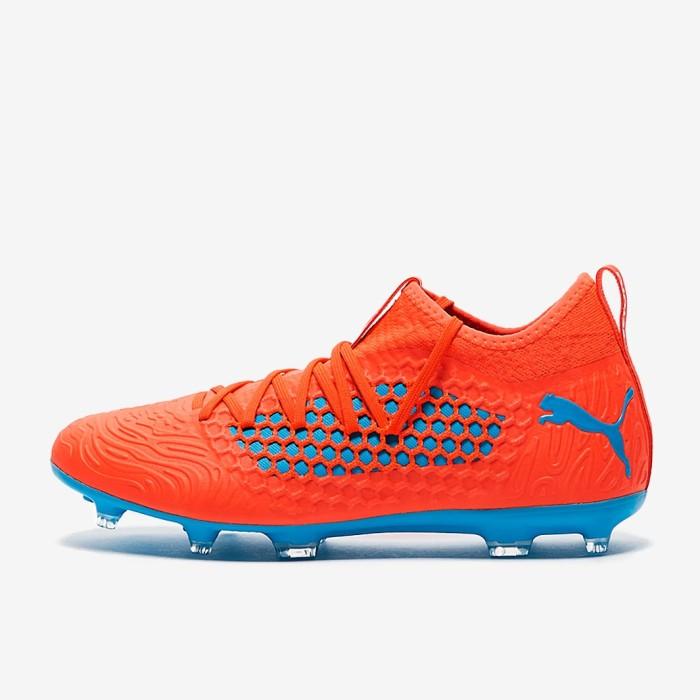 Jual Sepatu Bola Puma Future 19.3 Netfit FG AG - Red Blast Bleu Azur ... 19a2c33612