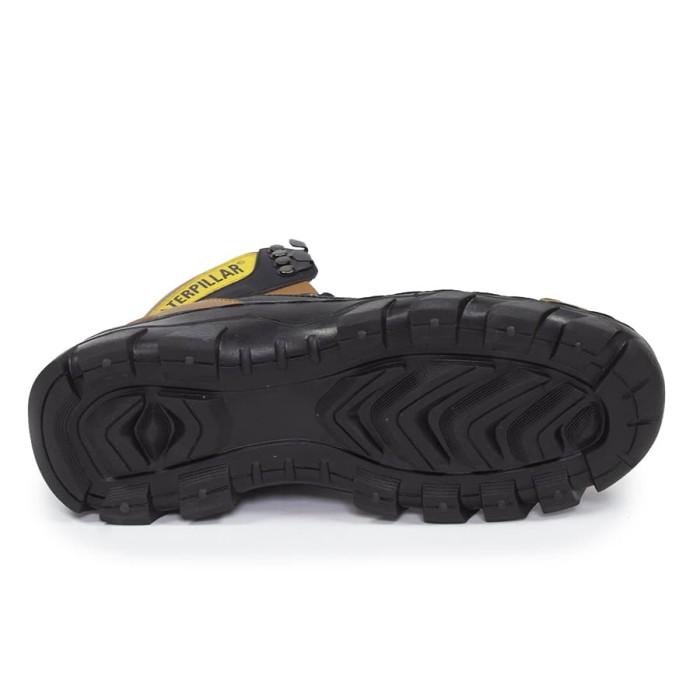 sepatu boots pria caterpillar argon MBC coklat kerja biker safety -  Cokelat f86f43a453