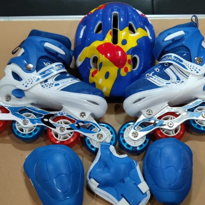 harga Sepatu roda inline skate fullset + dekker (protektor + helm) Tokopedia.com