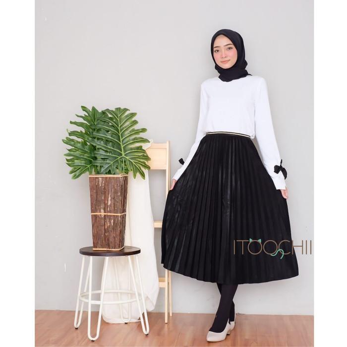 2b9bd93106 Harga Terbaru Midi Skirt Rok Plisket 7/8 Import Velvet Premium Di ...
