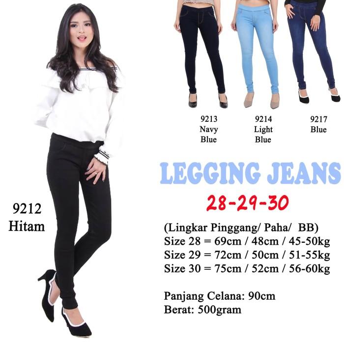 Jual Jeans Wanita Legging Celana Panjang Denim Pinggang Karet Hitam Item Light Blue 29 Jakarta Pusat Sold Out Store Tokopedia