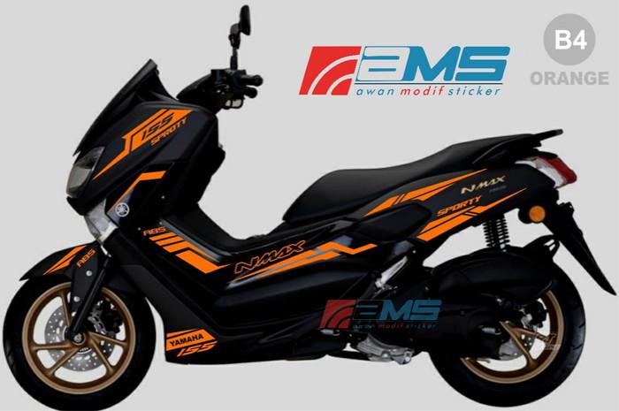 Jual Sticker Nmax Warna Orange Sporty Kode B Kab Sukoharjo Awan Modif Sticker Tokopedia