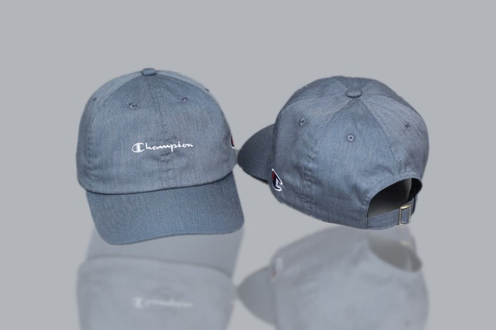 abd90d05f5065 Jual Topi Baseball Cap Champion Script Dad Hat Premium Quality Full ...