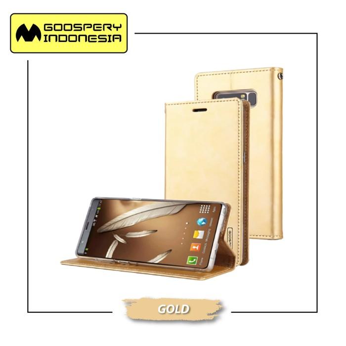 harga Goospery samsung galaxy j4 plus 2018 j415 blue moon flip case - gold Tokopedia.com