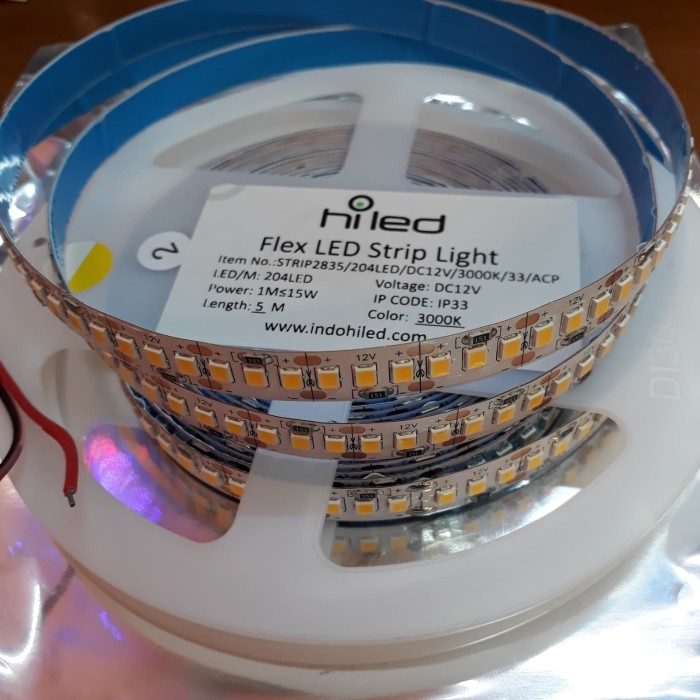 harga Hiled strip ip33 2835-1020led 5meter 3000k Tokopedia.com