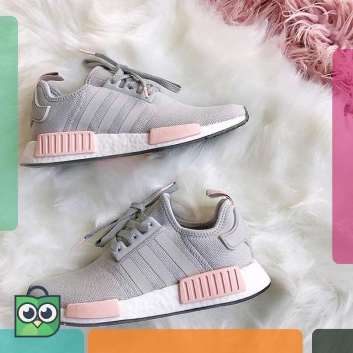 huge selection of 5df20 ff3ef Jual Adidas NMD R1 Grey Pink Premium Original / Sepatu Jalan Jalan - DKI  Jakarta - Denista Colection.ID   Tokopedia