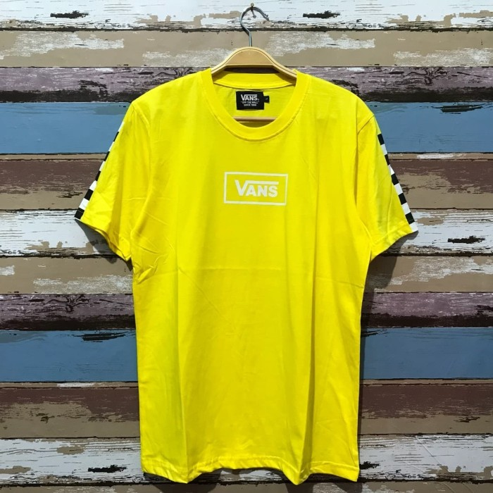 8a7572d7b42c3 Jual KAOS TSHIRT VANS CHECKERBOARD CROP YELLOW HIGH PREMIUM - skate ...