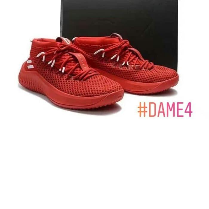 Harga Terbaru New Produk Sepatu Basket Sepatu Adidas Dame 4 Di ... 591a382b0c