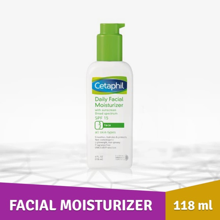 Pelembab wajah asli Cetaphil Daily Facial Moisturizer SPF15/PA 118ml