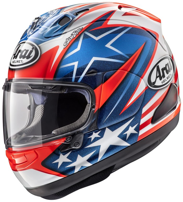 Arai RX7X HAYDEN SB Original SNI Helm Full Face - Blue White Red - SESUAI GAMBAR, SIZE XL