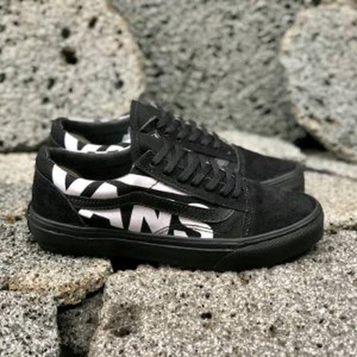 Jual Sepatu Vans Old Skool Logo Pack Black White waffle ICC BNIB ... 75a7933b52