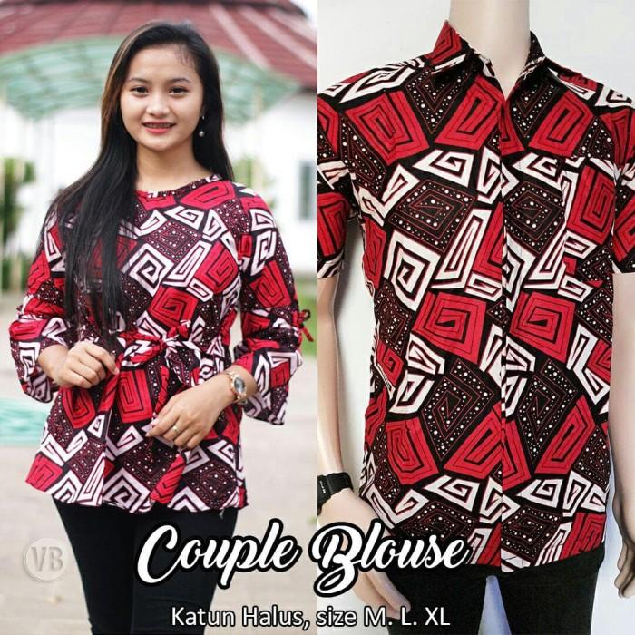 Jual Jual Baju Batik Couple Remaja Atasan Batik Sarimbit Terbaru Vkl6 Kota Pekalongan Rizquna Batik Exclusive Tokopedia