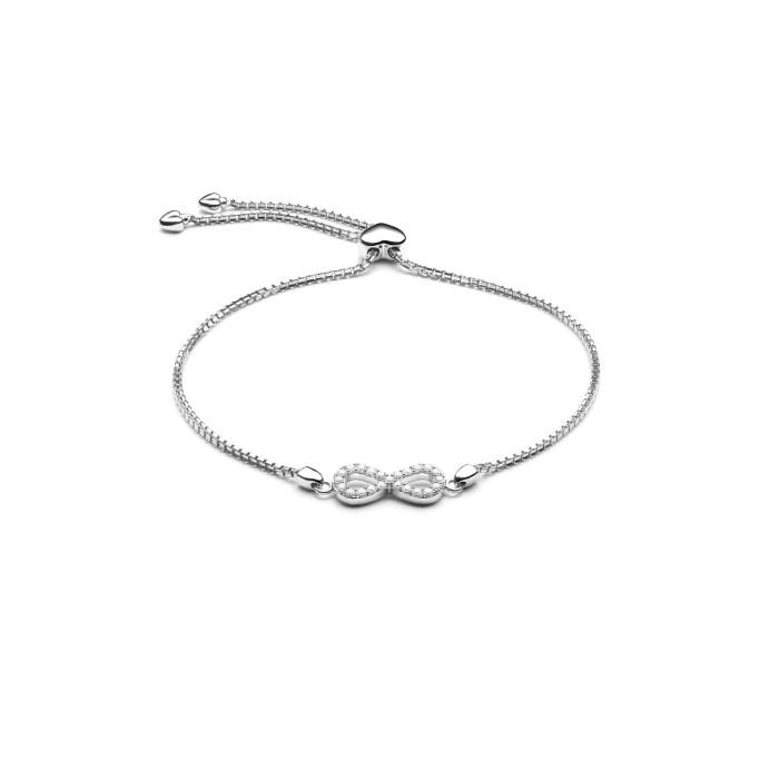 Lino and sons - gelang berlian f vvs (infinity bracelet)
