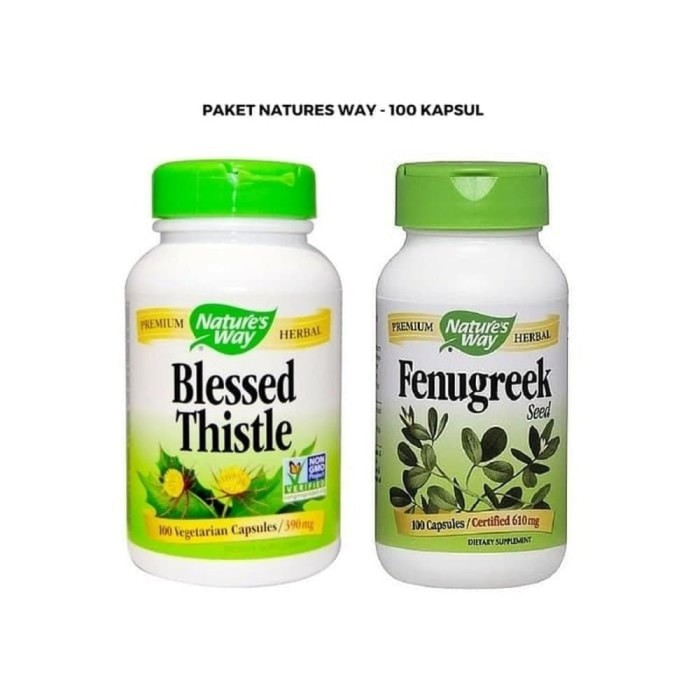 PaHe ASI Booster Natures Way Fenugreek 100 Dan Blessed Thistle 100