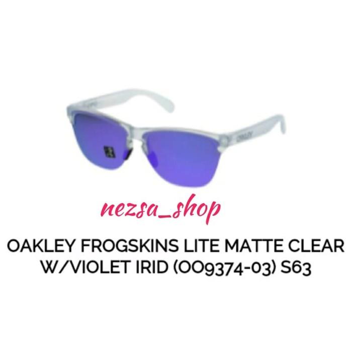50f85a129b3 Jual Oakley Frogskin Lite Matte Clear w Violet Irid OO9374-03 ...