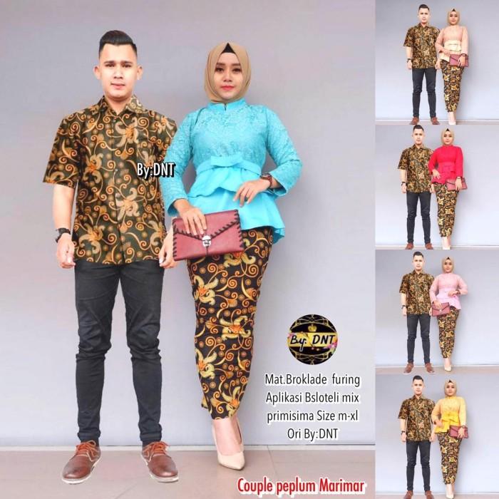 Jual Batik Couple Batik Sarimbit Kebaya Brokat Peplum Marimar Kota Surakarta Anitaolshop Tokopedia