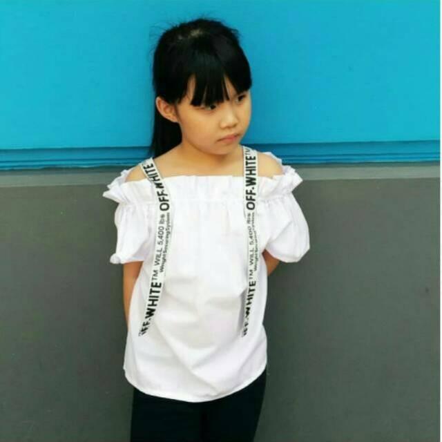 Best seller Baju Sabrina Anak Dress Anak Atasan Anak Dress Off