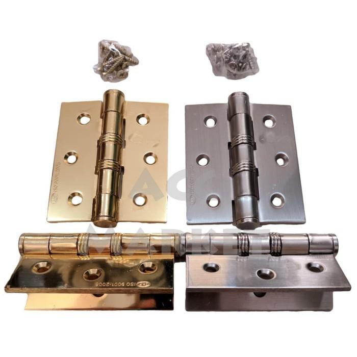 harga Engsel pintu rumah 3  stainless steel door hinges hinge jendela lemari Tokopedia.com