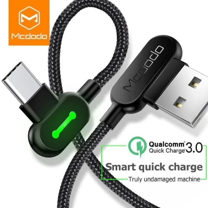 Foto Produk MCDODO USB Type C 90 Fast Charging Usb C Cable Type-C Data 1.2 Meter dari KoekMuraH
